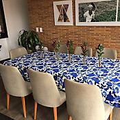Mantel 146x310cm Azul Acuarela