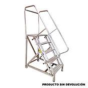 Escalera Tipo Avion en Aluminio 5 Pasos 1,25 Metros de 136 Kilogramos de Resistencia