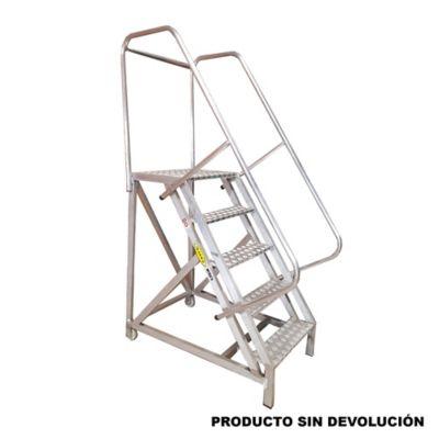 Escalera tipo avion en aluminio 5 pasos 1 25 metros de 136 for Escalera 5 pasos afuera