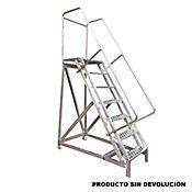 Escalera Tipo Avion en Aluminio 7 Pasos 1,75 Metros de 136 Kilogramos de Resistencia