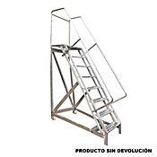 Escalera Tipo Avion en Aluminio 8 Pasos 2,00 Metros  de 136 Kilogramos de Resistencia