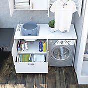Mueble para Lavarropas Pro 140x60 cm Canto 2mm Blanco