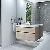 Mueble de baño Macao Latte 79x48 cm con lavamanos Bari Blanco