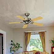 Ventilador Decorativo 4400cfm 106cm 5 Aspas 3 Velocidades Madera