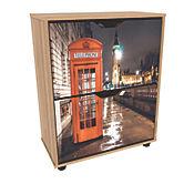 Zapatero Print Londres Noche 76.4x60x30.2cm Miel