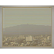 Persiana Aluminio 120x140 cm Beige Dorado