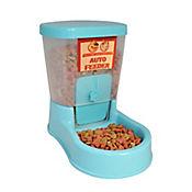Comedero Dosificador Plástico para Mascotas con Base y Vaso 27,5 x 16 x 22,5 cm Azul