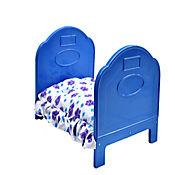 Cama de Lujo Pequeña para Perros 48,5 x 37 x 30,5 cm Azul