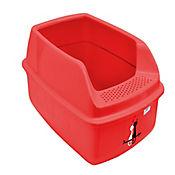 Arenera Plástica con Tapa para Gatos Nueva Clean 50,5 x 37,5 x 22,5 cm Rojo