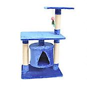 Gimnasio Árabe en Madera par Gatos 94,5 x 61 x 41 cm Azul