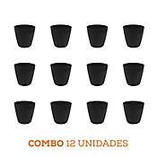 Combo 12 Unidades Matera San Remo Negra 6 x 5 cm