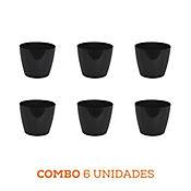 Combo 6 Unidades Matera San Remo Negra 11 x 9 cm