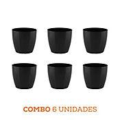 Combo 6 Unidades Matera San Remo Negra 12 x 11 cm