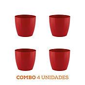 Combo 4 Unidades Matera San Remo Roja 16 x 14 cm