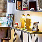 Lámpara Ara Mesa Figura Mujer 1 Luz E27
