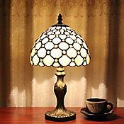 Lámpara Ara Mesa Tiffany 1 Luz E27 Crema Antique