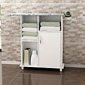Mueble Auxiliar con Mesa de Planchar Acolchada 87x104x29 cm Blanco