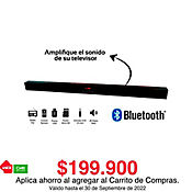 Barra Sonido 30W Rms Puerto Usb Micro Sd Bluetooth
