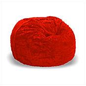 Sillón Puff Supreme Ultrasoft de 120 cm x 120 cm x 80 cm Rojo