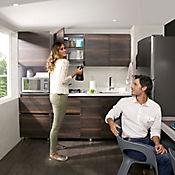 Cocina Integral Terranova 1.50 Metros 6 Puertas 1 Cajones Habano Incluye Mesón Derecho Con Estufa 4 Fogones A Gas