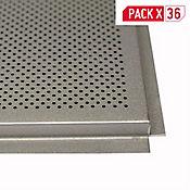 Bandeja Metalica Gris de 603x603 mm Paquete x 36 Unidades
