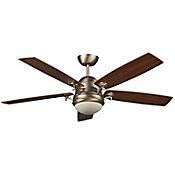Ventilador Venice Led 15w de 132cm Cfm 5215 5 Aspas Plywood Aluminio