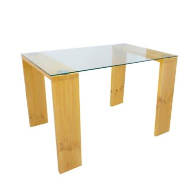 Mesa para Comedor Vidrio + Madera 120x76x79cm