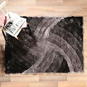 Tapete Shaggy 3D 160x230 cm Gris