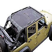 Carpa En Malla Color Negro para Jeep Wrangler 4 puertas Modelos 10-15