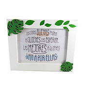 Portaretrato Aplique Blanco 13x18 cm
