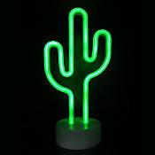 Lámpara De Mesa Neón Cactus