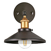 Lámpara de Pared 1 Luz 60W E27 Metal Negro