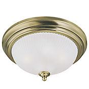 Lámpara de Techo 2 Luces 60W E27 Vidrio Bronce Antiguo