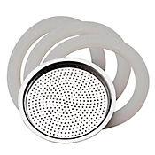 Filtro+3 Cauchos Cafetera 6tzs Steel Moka