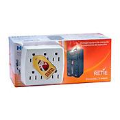 Kit Protector de Voltaje Homepro (Regulador) + Multitoma 6 Salidas 1.800W