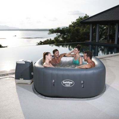 Jacuzzi Inflable Chile.Jacuzzi Inflable Cuadrado Hawaii 6 Personas Bestway 344320