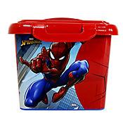 Caja Infantil Tapa Broche Spiderman 17x21x24 cm 4 Lt