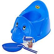 Combo Bacinilla Perrito Azul + Comidas Bebe
