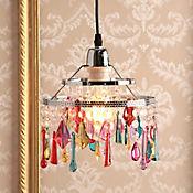 Lámpara Colgante 1 Luz E27 Cristal Color Bronce