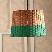 Lámpara Ara Colgante 1 Luz E27 Rattan Turques