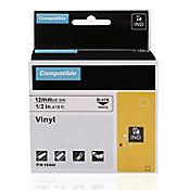Cinta Rotuladora Industrial Blanca 12mmx5.5mt Dymo Vinilo