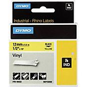 Cinta Rotuladora Industrial Amarilla 12mmx5.5mt Dymo Vinilo