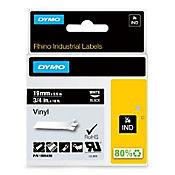 Cinta Rotuladora Industrial Negra 19mmx5.5mt Dymo Vinilo