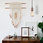 Lámpara Colgante Vintage 1 Luz E27 Cobrizado