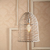 Lámpara Colgante Lein 1 Luz E27 Rattan Blanco