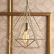 Lámpara Ara Colgante Diaman 1 Luz E27 Dorado