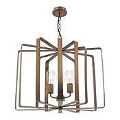 Lámpara Ara Colgante Versus 3 Luces E27 Dorado