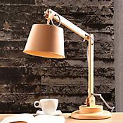 Lámpara Ara Escritorio rit Loul 1 Luz E27 Madera Natura