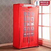 Closet De Tela 75x165x45 cm Caseta Teléfono