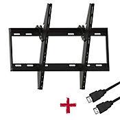 Soporte para TV LCD/PLASMA/LED 37-70 Pulgadas 1 Movimiento con Inclinación + Cable HDMI